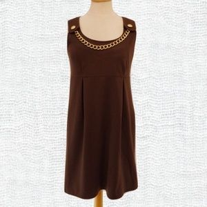 Michael Kors Chocolate Ponte Knit Jumper- Sz. 4